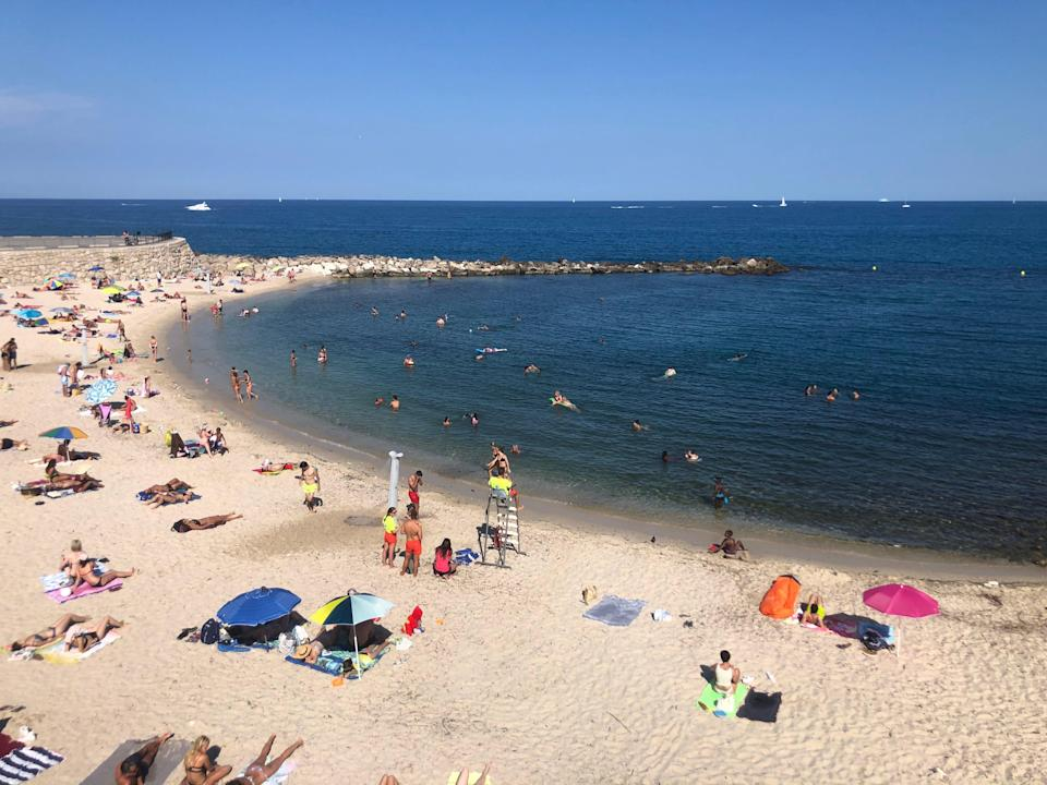 Danger zone: a beach in the south of France, on the 'amber plus' list (Simon Calder)