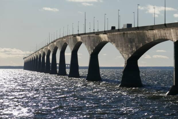 Various images of the entry point on the PEI side of the Confederation Bridge. Health officials ask for documentation as the Atlantic bubble is still closed. Dec. 3, 2020 (John Robertson/CBC - image credit)