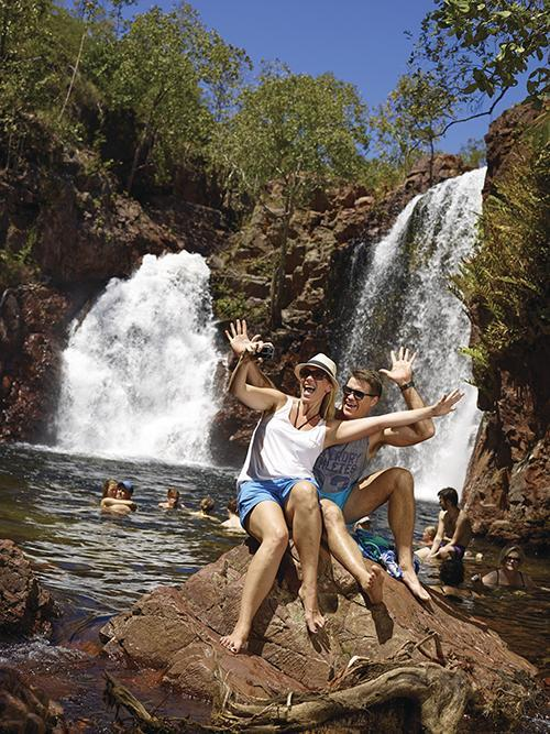 Winter may be cold and dreary in the southern states, but it's actually the best time to visit the NT. The weather is still in the mid to high twenties each day. The water wonderland of Litchfield National Park, home to the famous Wangi Falls, is one place worth exploring. Best of all, there are no flies to annoy you.