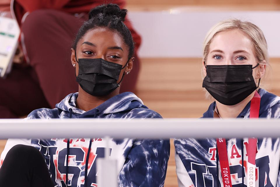 Simone Biles will return to compete in the balance beam competition in Tokyo, according to teammate MyKayla Skinner. (Photo by Jamie Squire/Getty Images)