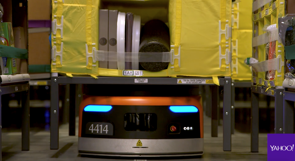 There are hundreds of robots zipping around Amazon's fulfillment center in Tracy, California.