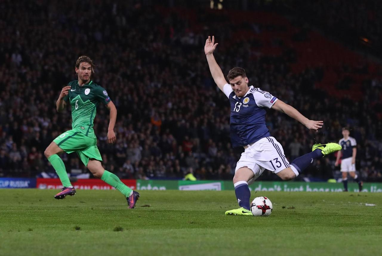 Chris Martin's dramatic late winner gives Scotland much-needed victory over Slovenia