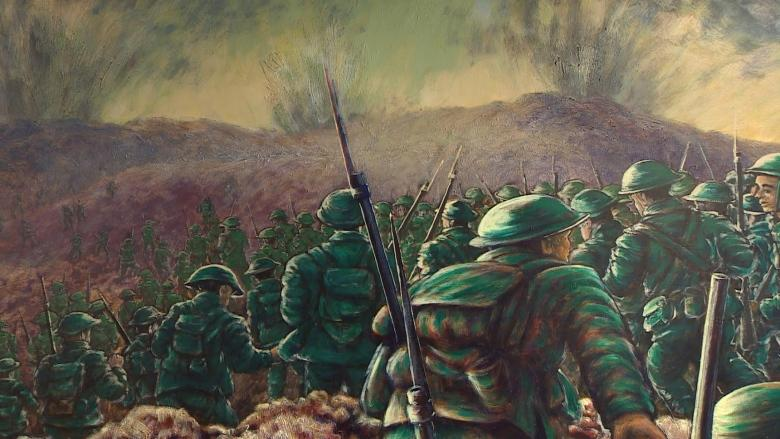 Here's your first look at Vimy Ridge anniversary painting in Sussex