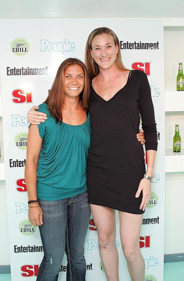 """Beach volleyball stars Misty May-Treanor and Kerri Walsh are two reasons why viewers tune in during the Summer Olympics. Barry Brecheisen/<a href=""""http://www.wireimage.com"""" rel=""""nofollow noopener"""" target=""""_blank"""" data-ylk=""""slk:WireImage.com"""" class=""""link rapid-noclick-resp"""">WireImage.com</a> - March 6, 2008"""