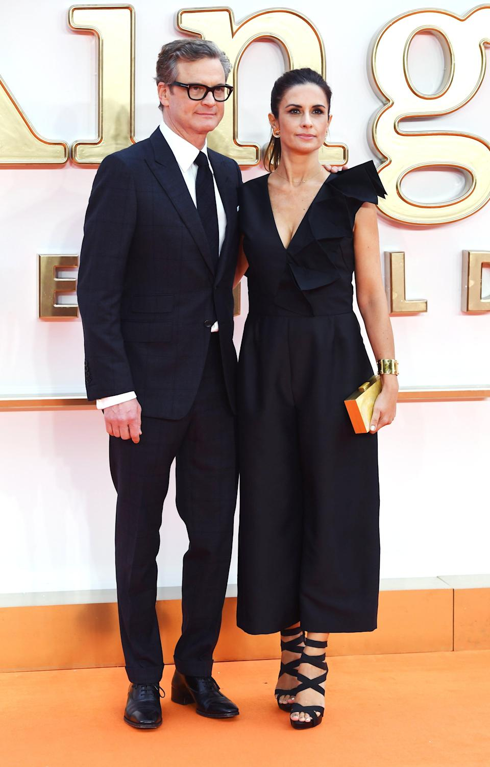 <p>The quintessential British couple both looked as suave as ever with Livia choosing an eco-friendly black dress by Sculptour and strappy heels.<br><i>[Photo: EFE]</i> </p>
