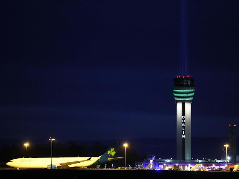 Dublin Airport shines a large beam in tribute to front line health workers. The airport's Twitter account poked fun at Boris Johnson's top advisor, who said he took a 30-minute drive while under lockdown to test his eyesight: PA