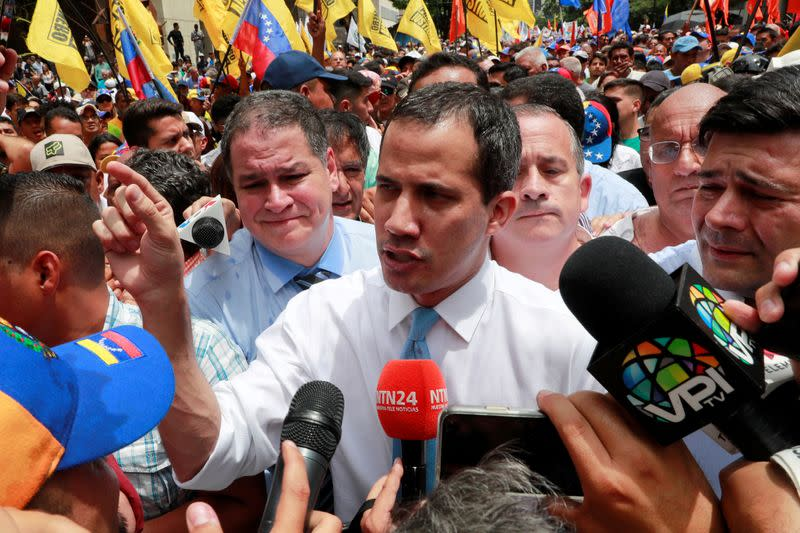 Venezuela's Guaido calls for emergency government to manage impact of coronavirus