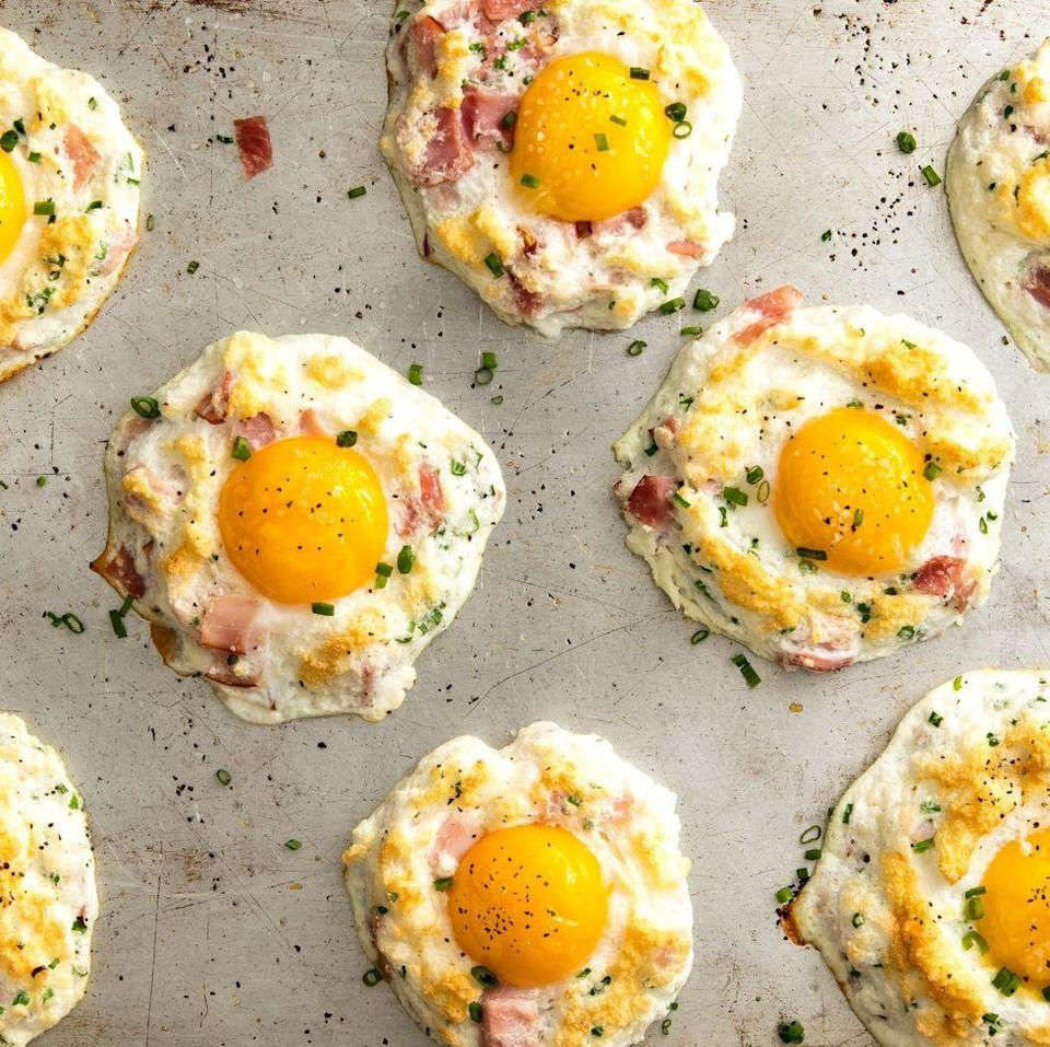 """<p>We love a <a href=""""http://www.delish.com/uk/cooking/recipes/g28784044/hard-boiled-egg-recipes/"""" rel=""""nofollow noopener"""" target=""""_blank"""" data-ylk=""""slk:good egg recipe"""" class=""""link rapid-noclick-resp"""">good egg recipe</a>, but clouds eggs were the internet trend that changed our breakfast routine forever. Think actual clouds of heaven topped with a runny yolk. They are so fun to make and everyone will think they are the cutest things. Your brunch has never been more Instagrammed. </p><p>Get the <a href=""""https://www.delish.com/uk/cooking/recipes/a29455994/cloud-eggs-recipe/"""" rel=""""nofollow noopener"""" target=""""_blank"""" data-ylk=""""slk:Cloud Eggs"""" class=""""link rapid-noclick-resp"""">Cloud Eggs</a> recipe.</p>"""