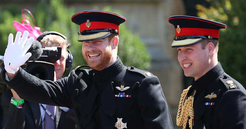 Royal experts claim William and Harry broke out into an argument as soon as they were behind closed doors after their grandfather's funeral. Photo: Getty