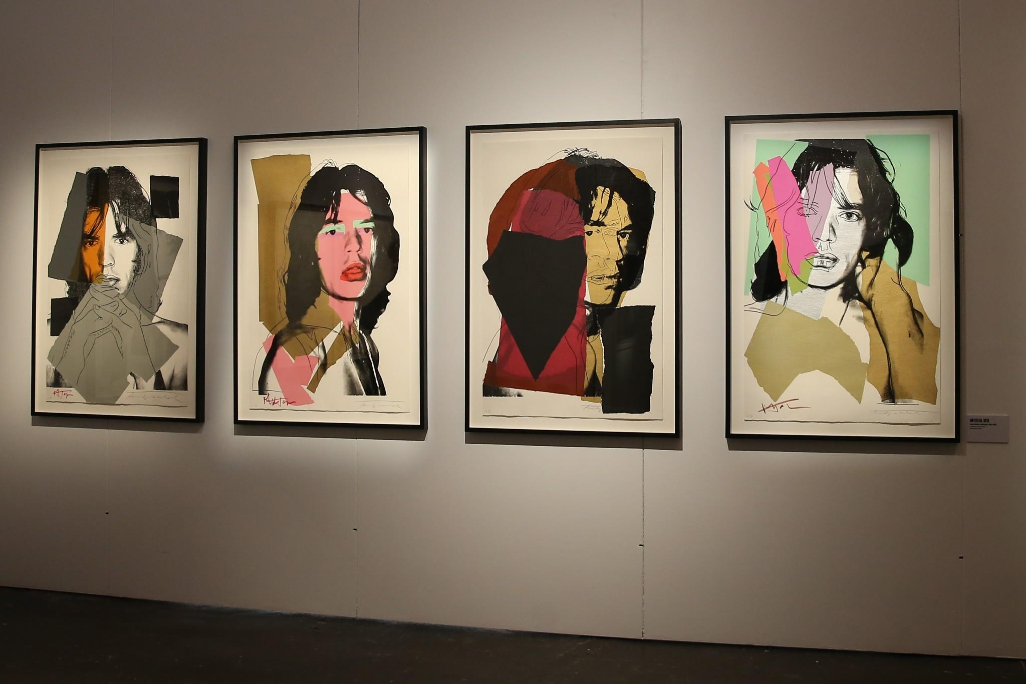 The original pieces of work from key collaborators who helped to make the band not just musical but cultural icons are also on show, include Andy Warhol lithographs of Mick Jagger. (Gordon Donovan/Yahoo News)