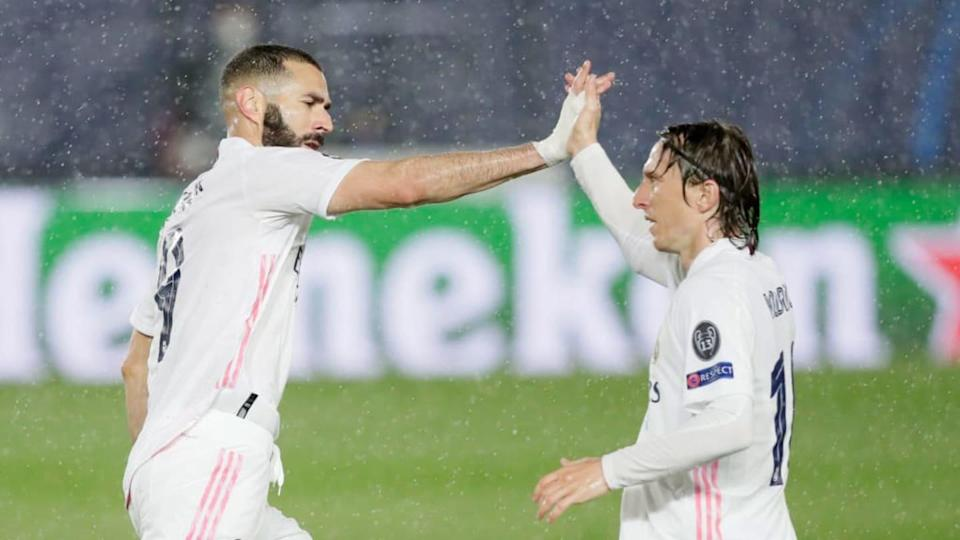 Benzema e Modric | Soccrates Images/Getty Images