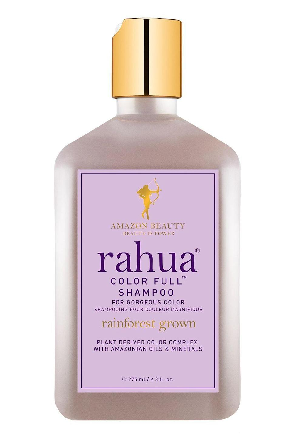 "<p><strong>Rahua</strong></p><p>sephora.com</p><p><strong>$38.00</strong></p><p><a href=""https://go.redirectingat.com?id=74968X1596630&url=https%3A%2F%2Fwww.sephora.com%2Fproduct%2Fcolor-full-shampoo-P417812&sref=https%3A%2F%2Fwww.cosmopolitan.com%2Fstyle-beauty%2Fbeauty%2Fg22740377%2Forganic-shampoo%2F"" rel=""nofollow noopener"" target=""_blank"" data-ylk=""slk:Shop Now"" class=""link rapid-noclick-resp"">Shop Now</a></p><p>This organic, sulfate-free shampoo is <strong>perfect for anyone who has color-treated or <a href=""https://www.cosmopolitan.com/style-beauty/beauty/g29784969/how-to-bleach-hair-at-home/"" rel=""nofollow noopener"" target=""_blank"" data-ylk=""slk:bleached hair"" class=""link rapid-noclick-resp"">bleached hair</a></strong>. It uses Amazonian rahua oil to strengthen each strand and lock in color, plus morete fruit extract, which is rich in vitamins A, C, and E. Together, these vitamins help protect hair from UV damage, and in turn, keep your color looking fresh and vibrant.</p>"