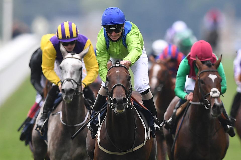 Jockey Joe Fanning smiles after riding Subjectivist to victory in the Gold Cup on Ladies Day at Royal Ascot