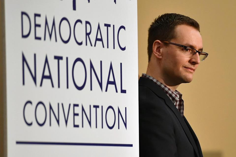 Robby Mook speaks at a press conference in Philadelphia, Pa. (Photo: Jeff J. Mitchell/Getty Images)