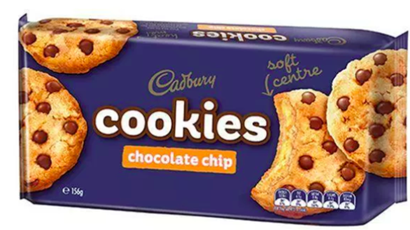 The Cadbury's Chocolate Chip cookie with soft centre contains an allergen, but this is not clearly labelled on the packaging.