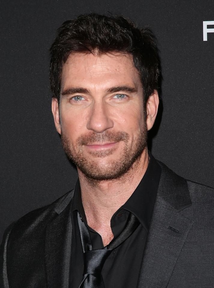 "HOLLYWOOD, CA - MARCH 18: Actor Dylan McDermott attends the Premiere of FilmDistrict's ""Olympus Has Fallen"" at the ArcLight Cinemas Cinerama Dome on March 18, 2013 in Hollywood, California.  (Photo by Frederick M. Brown/Getty Images)"