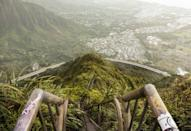 """<p>Haiku Stairs are also called the <a href=""""https://www.popsugar.com/smart-living/Haiku-Stairs-Hawaii-43785489"""" class=""""link rapid-noclick-resp"""" rel=""""nofollow noopener"""" target=""""_blank"""" data-ylk=""""slk:Stairway to Heaven"""">Stairway to Heaven</a>, and many say it is worth the 3,922 steps it takes to get to the top. The view is said to be quite heavenly.</p>"""