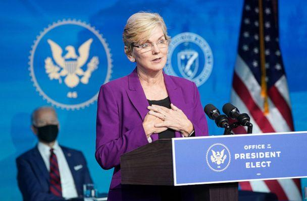 PHOTO: Former Michigan Governor Jennifer Granholm, President-elect Joe Biden's nominee for Secretary of Energy, speaks after Biden announced her nomination for his administration in Wilmington, Del., Dec. 19, 2020. (Kevin Lamarque/Reuters)