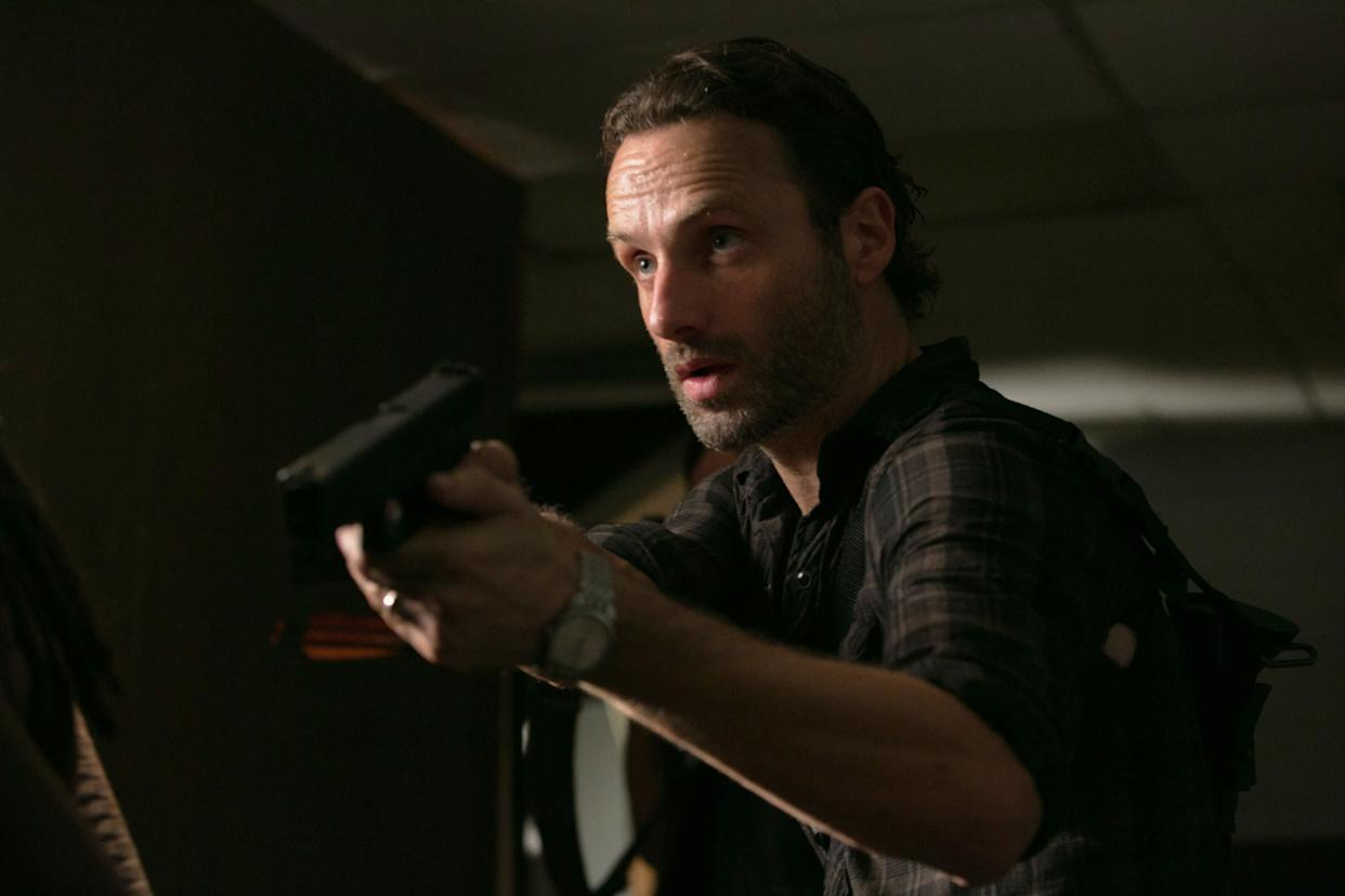 <em>Three chomps</em> Andrew Lincoln has done some fine work this season as a more take-charge Rick; he's not just a credible leader, he's a more humane and loyal alternative to the Governor, who tossed Merle aside without a second thought when it suited his nefarious purposes. Whatever flaws he has as a man and a leader, Rick would never throw a member of his group under the bus full of zombies, which is why we root for the Grimes bunch even as their circumstances get more and more desperate.