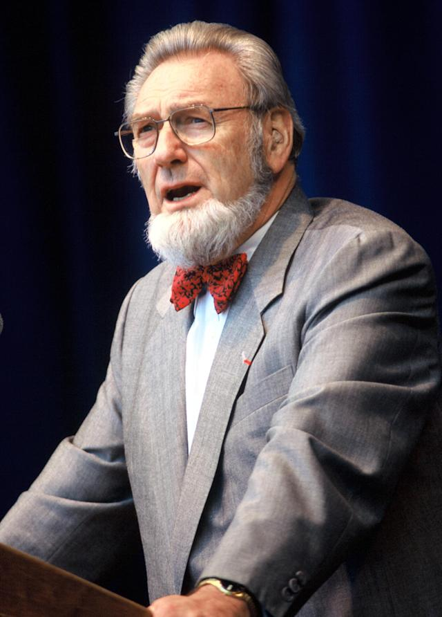 MOUNTAIN VIEW, CA - MAY 26 C Everett Koop at the Silicon Valley Leadersip Conference at Shoreline Amphitheater. Event held on May 26, 1995 in Mountain View, California. (Photo by Tim Mosenfelder/Getty Images)