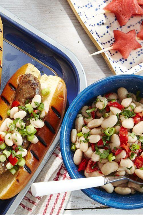 """<p>Get a zesty kick from the pickled Peppadew peppers in this delicious white bean salad.</p><p><strong><a href=""""https://www.countryliving.com/food-drinks/a28195336/white-bean-and-peppadew-salad-recipe/"""" rel=""""nofollow noopener"""" target=""""_blank"""" data-ylk=""""slk:Get the recipe"""" class=""""link rapid-noclick-resp"""">Get the recipe</a>.</strong></p>"""