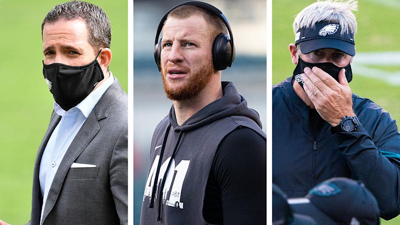Who gets fired first? Howie Roseman, Carson Wentz or Doug Pederson?