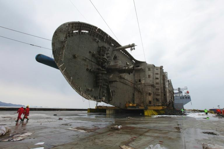 The Sewol ferry sank off South Korea's southwestern island of Jindo in 2014, with the loss of more than 300 lives