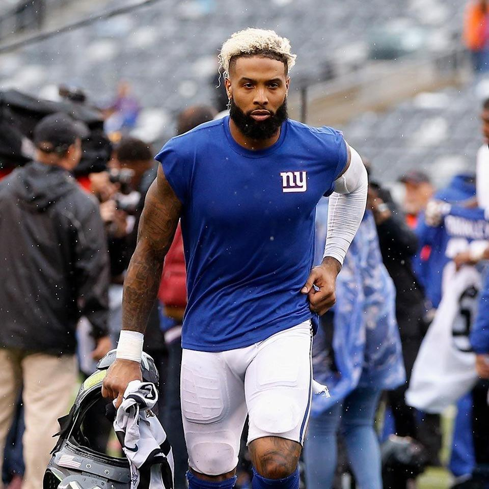 <p><strong>Position:</strong> Wide receiver<br><strong>Relationship status: </strong>Single<br><strong>What makes him so sexy:</strong> Odell—who's not afraid of crazy prints and standing out in a crowd—has to be one of the most fashionable players in the NFL. His best accessory, though? That charming smile.</p>