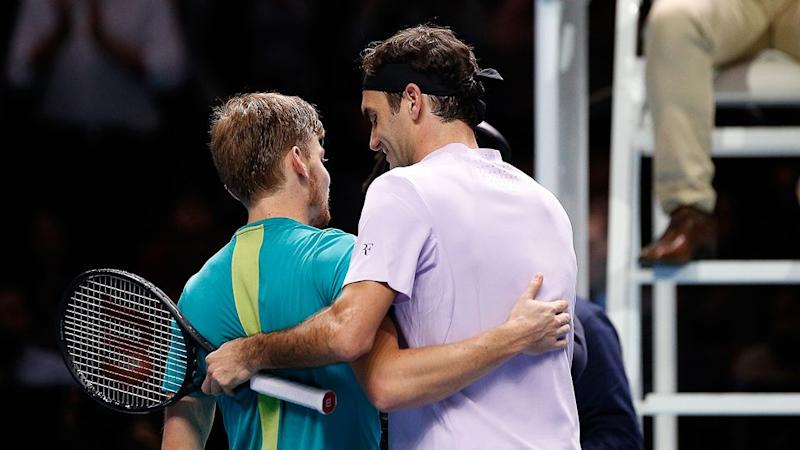 Federer showing grace as ever in defeat. Pic: Getty