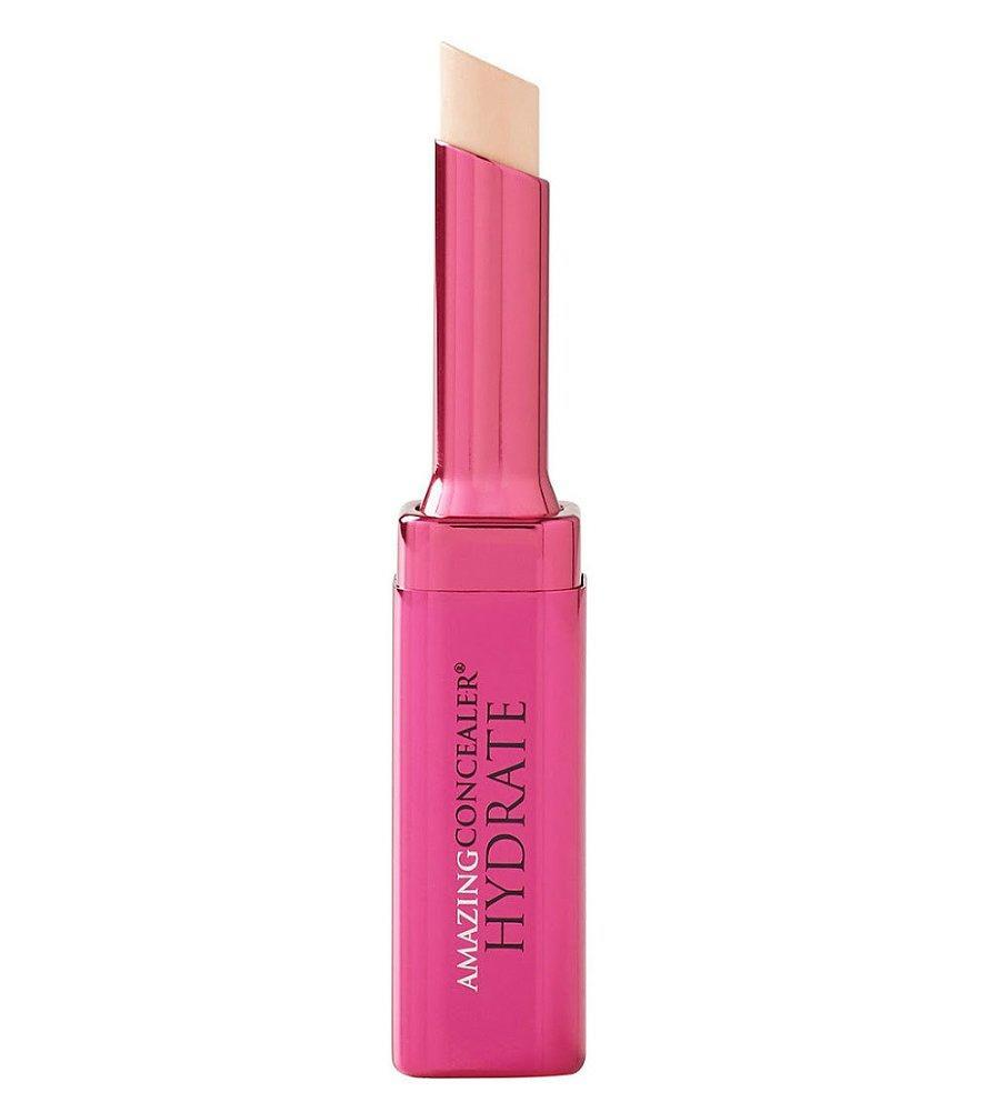 """""""I love this for every day. If you using something too dry [in that area], it tends to settle into any fine lines. This doesn't do that, and provides just enough coverage."""" <strong>Buy It! </strong>$32; <a href=""""https://ulta.7eer.net/c/249354/164999/3037?subId1=PEO%2CCindyCrawfordRevealsHerBeautySecrets%2Cjackiefields2014%2CUnc%2CGal%2C7038468%2C201905%2CI&u=https%3A%2F%2Fwww.ulta.com%2Famazing-concealer-hydrate%3FproductId%3DxlsImpprod13941011"""" rel=""""nofollow noopener"""" target=""""_blank"""" data-ylk=""""slk:ulta.com"""" class=""""link rapid-noclick-resp"""">ulta.com</a>"""
