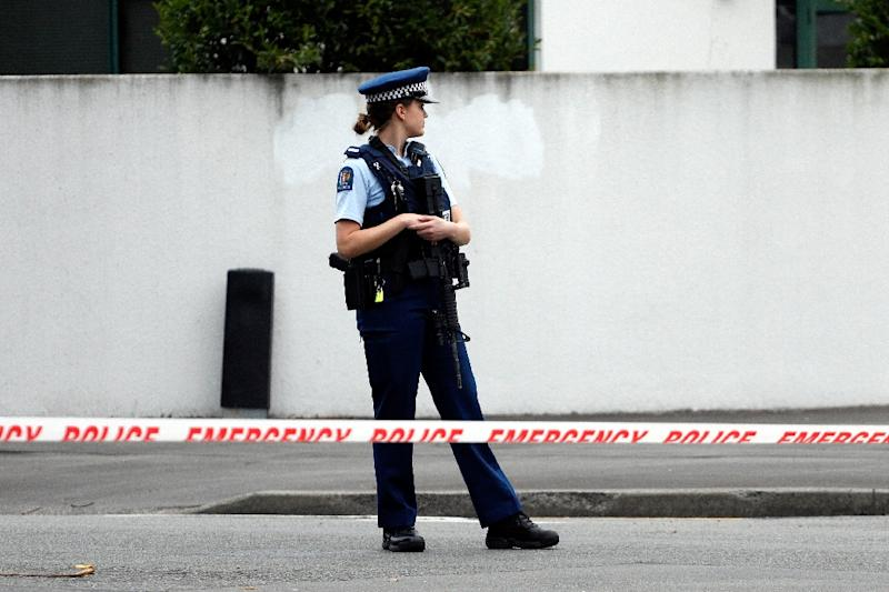 Jacinda Ardern said the gunman, a 28-year-old Australian, obtained a gun licence in November 2017 Attacks on two Christchurch mosques left at least 49 dead on March 15, with one gunman -- identified as an Australian extremist -- apparently livestreaming the assault that triggered the lockdown of the New Zealand city. (AFP Photo/Tessa BURROWS)
