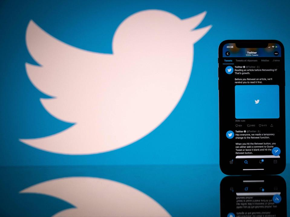 <p>The Twitter outage follows an hours-long outage in the early hours of Saturday morning</p> (AFP via Getty Images)