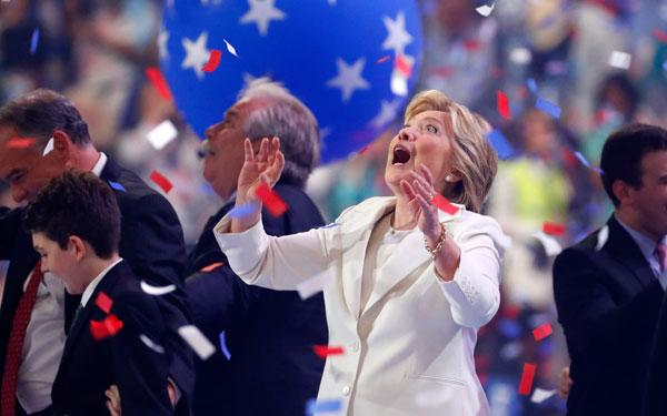 Hillary Clinton's love of balloons at the DNC brings out the child in all of us