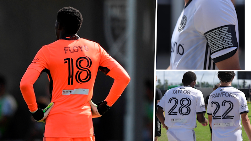 'Actions are louder than words' - Union honor Floyd, Taylor and victims of police brutality with names on jerseys