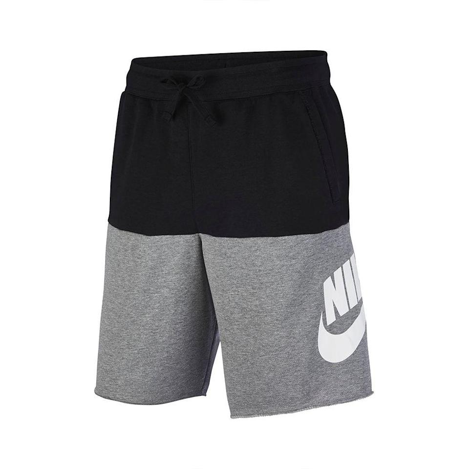 """<p><strong>NIKE</strong></p><p>nordstrom.com</p><p><strong>$44.95</strong></p><p><a href=""""https://go.redirectingat.com?id=74968X1596630&url=https%3A%2F%2Fwww.nordstrom.com%2Fs%2Fnike-sportswear-alumni-shorts%2F5453025&sref=https%3A%2F%2Fwww.menshealth.com%2Fstyle%2Fg33510339%2Fnordstrom-anniversary-sale-2020%2F"""" rel=""""nofollow noopener"""" target=""""_blank"""" data-ylk=""""slk:Shop Now"""" class=""""link rapid-noclick-resp"""">Shop Now</a></p><p><strong><del>$60</del></strong> <strong>$44.95 (25% off)</strong></p><p>With an easy, breezy silhouette, elastic waistband, and lightweight material, these shorts are the summer-equivalent of sweatpants.</p>"""