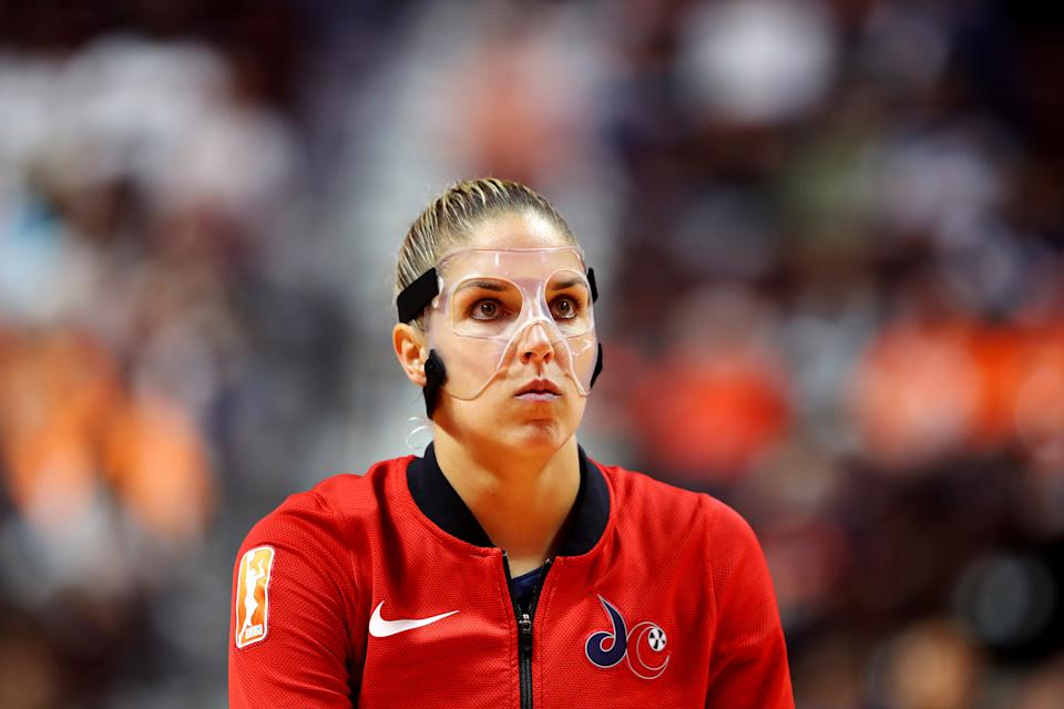 Washington Mystics star Elena Delle Donne and Dick's Sporting Goods Foundation helped surprise hundreds of teenage girls in the Philadelphia area Friday. (Photo by Maddie Meyer/Getty Images)
