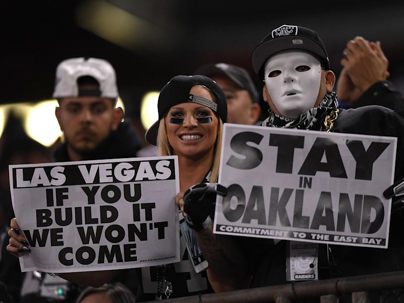 The move is not a popular one with Raiders fans: Getty