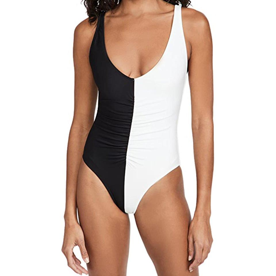 best two tone one piece solid and striped