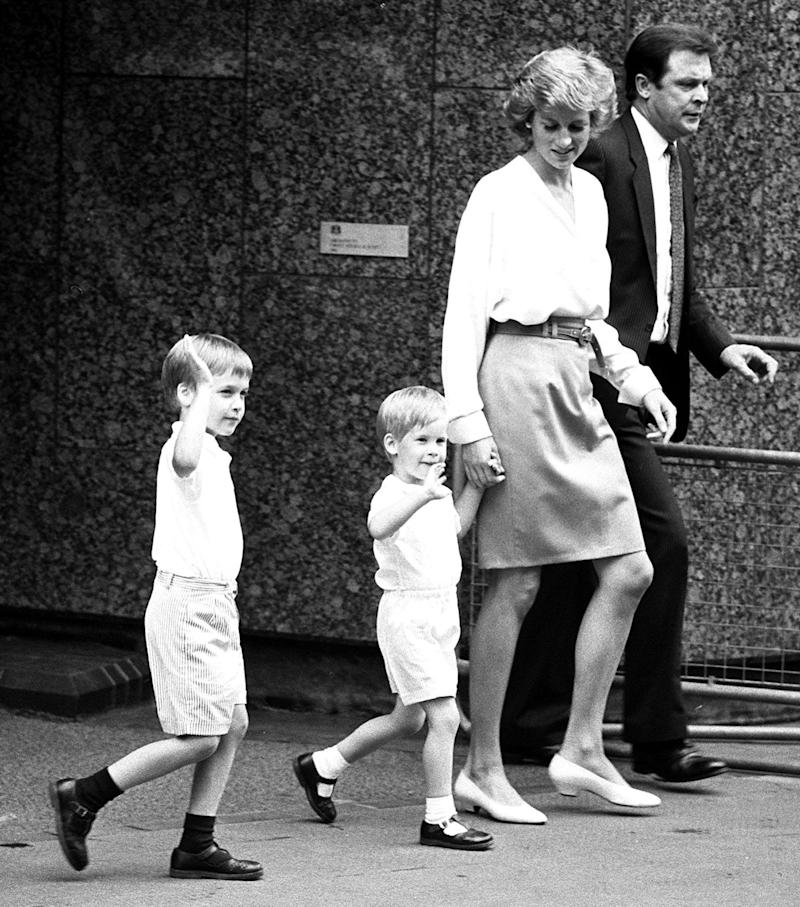 Princess Diana with Prince William and Prince Harry in 1988 (PA)