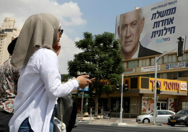 Israeli Prime Minister Benjamin Netanyahu has vowed to annex a chunk of the Jordan Valley in the occupied West Bank if he wins Tuesday's elections (AFP Photo/HAZEM BADER)