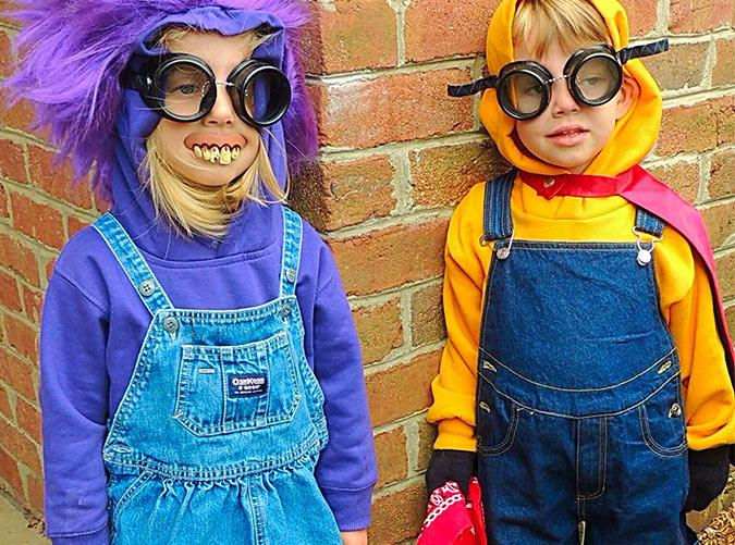 <h2>2. Minions</h2> <p>All you need for this adorable costume are overalls, a yellow shirt and hat, and some black gloves.</p>
