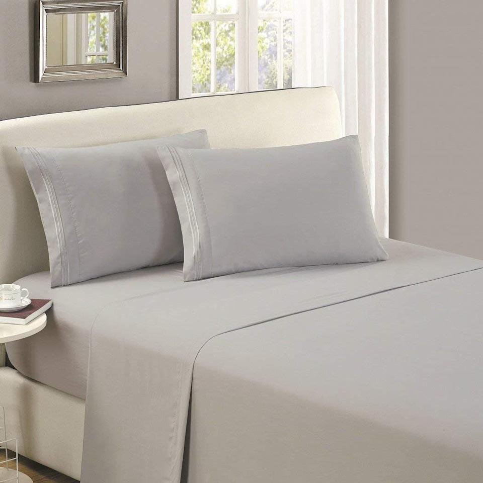 These premium bed sheets have more than 80,000 near-perfect reviews. (Photo: Amazon)