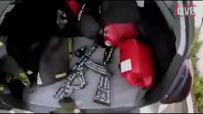 The gun Brenton Tarrant used to carry out the attack. (AP)