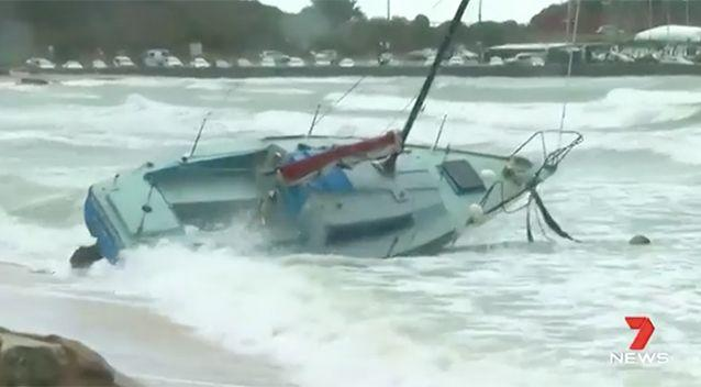 Conditions were easing in the afternoon as the fronts moved on. Source: 7 News