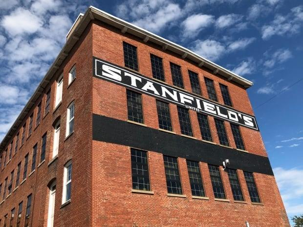 Stanfield's, in business since 1856 and in Truro since 1870,  had pivoted from underwear to manufacturing hospital gowns under government contract in 2020. (Vernon Ramesar/CBC - image credit)