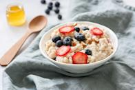 """<p><a href=""""https://www.goodhousekeeping.com/health/diet-nutrition/a26010/health-benefits-oatmeal/"""" rel=""""nofollow noopener"""" target=""""_blank"""" data-ylk=""""slk:Oats"""" class=""""link rapid-noclick-resp"""">Oats</a> are one of the best foods we can eat for a number of reasons. As a 100% whole-grain, they're filled with fiber, plant-based protein, B-vitamins, and minerals, including iron, calcium, and magnesium. They've been linked to reduced risk of heart disease thanks to a type of fiber called beta-glucan that has been <a href=""""https://www.ncbi.nlm.nih.gov/pubmed/27724985"""" rel=""""nofollow noopener"""" target=""""_blank"""" data-ylk=""""slk:shown"""" class=""""link rapid-noclick-resp"""">shown</a> to improve cholesterol levels. This fiber also fuels for your body's <a href=""""https://www.goodhousekeeping.com/health/diet-nutrition/a34515/probiotics/"""" rel=""""nofollow noopener"""" target=""""_blank"""" data-ylk=""""slk:probiotics"""" class=""""link rapid-noclick-resp"""">probiotics</a>, helping friendly bacteria to survive and thrive. </p>"""