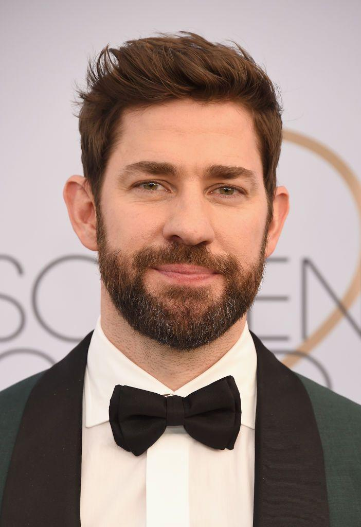 <p>Krasinski embraced his post-office career with a more mature look and one that fit better for his rugged action stardom.</p>