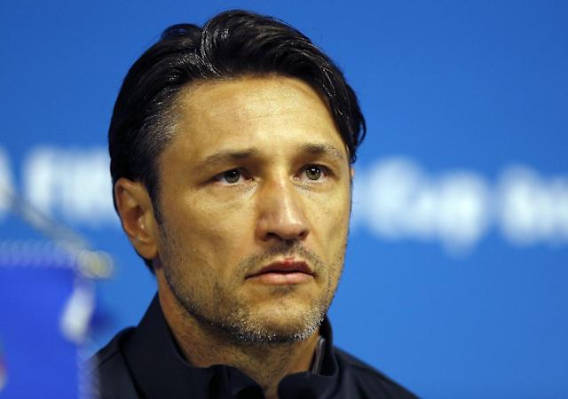 Croatia's coach Niko Kovac addresses the media during a press conference after an official training session the day before the group A World Cup soccer match between Brazil and Croatia in the Itaquerao Stadium Sao Paulo , Brazil, Wednesday, June 11, 2014. (AP Photo/Kirsty Wigglesworth)