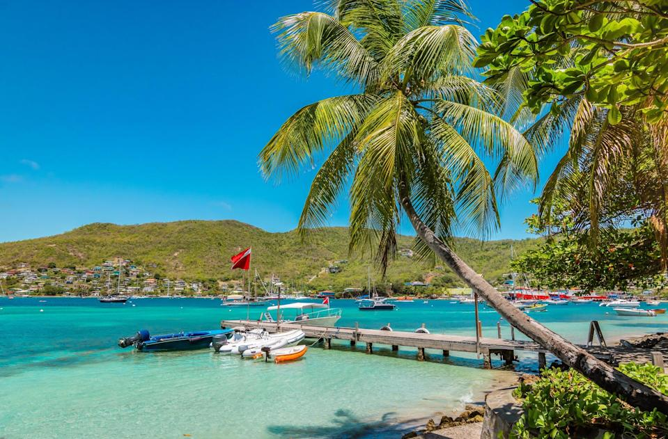<p>The harbour of Port Elisabeth in Bequia, part of Saint Vincent and the Grenadines.</p> (Getty/iStock)