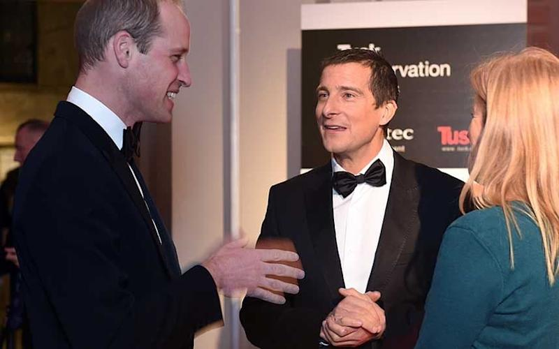 Grylls meeting the Duke of Cambridge - Credit: Getty Images/ Stuart C. Wilson